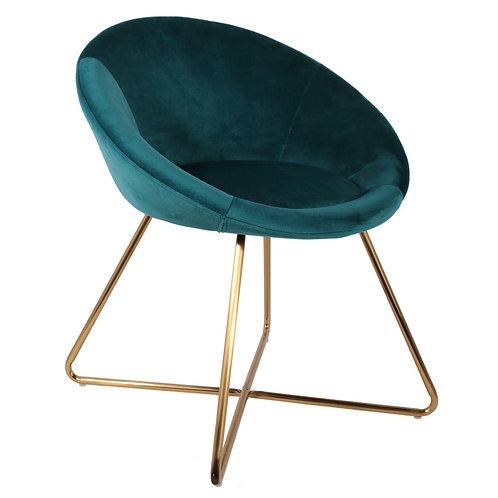 Fotel Coco  Velvet niebieski