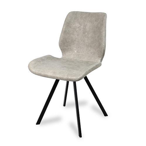 Krzesło tapicerowane  ekoskóra Grey