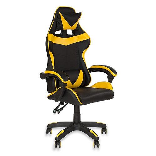 Fotel czarno - żółty  biurowy gamingowy ekoskóra