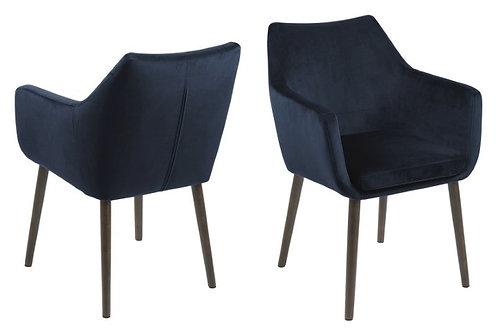 Fotel welurowy  Dante Dark Blue