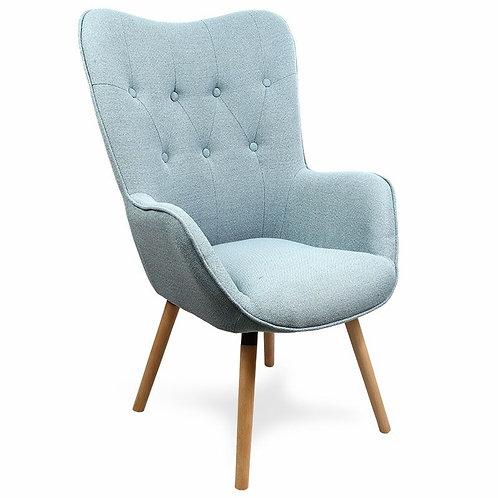 Fotel uszak tapicerowany niebieski