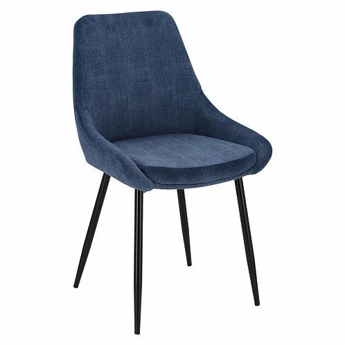 Krzesło sztruksowe niebieskie  Szymon 2