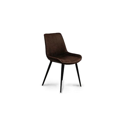 Krzesło brązowe tapicerowane ekoskóra Aron