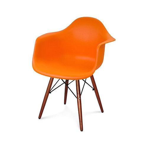 Krzesło  pomarańczowe z ciemnymi nogami Astra 22