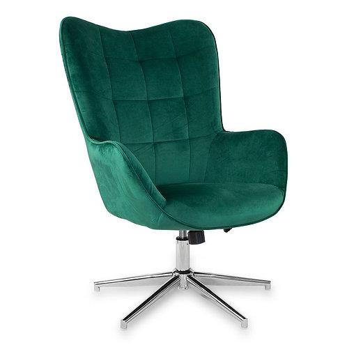 Fotel obrotowy z weluru zielony Elżbieta 1