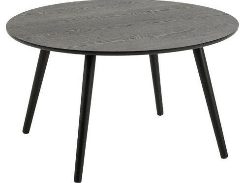 Stolik kawowy okrągły Filip  80 cm  czarny