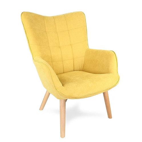 Fotel uszak żółty Skandi 44