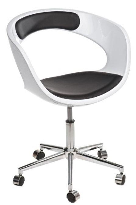 Fotel biurowy na  kółkach - biały