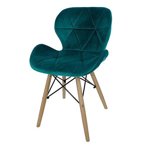 Krzesło zielone  welurowe Lusia 6