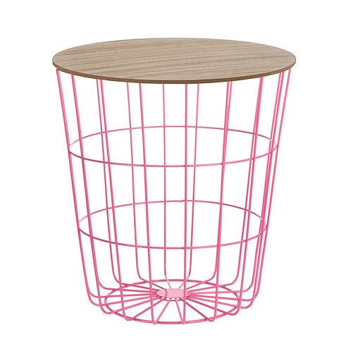 Designerski ażurowy stolik Pink