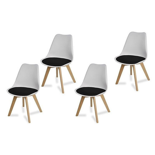 Zestaw czterech krzeseł Artino Black 2