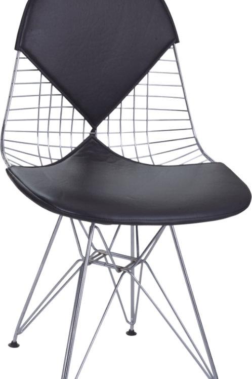 Krzesło czarne  ażurowe  Rona