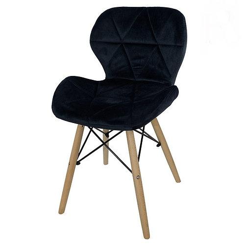 Krzesło czarne  welurowe Lusia  7