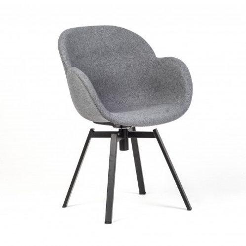 Krzesło szare obrotowe tapicerowane 222
