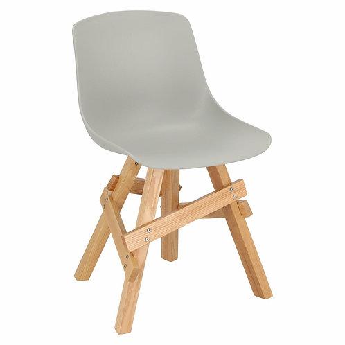 Krzesło drewniane szare dębowe Vesuvio 33