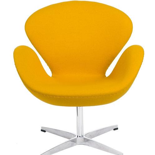 Fotel Tulip żółty - kaszmir