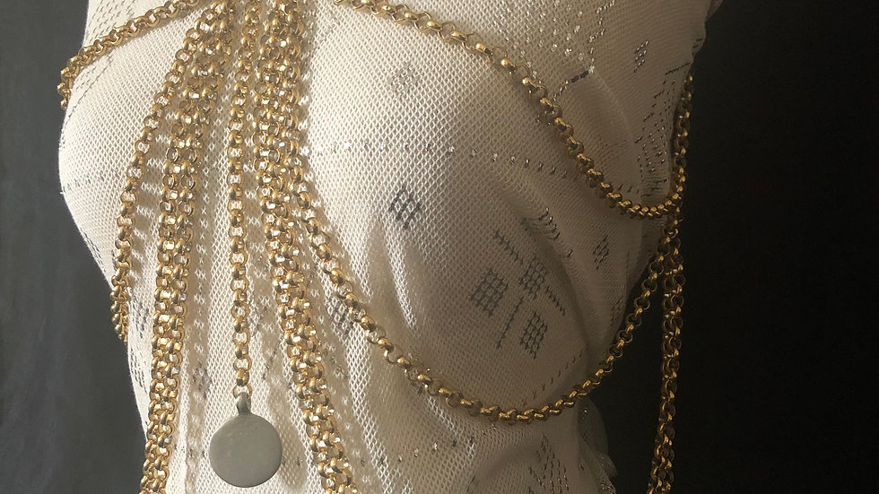 Gold Stainless Chest Vest