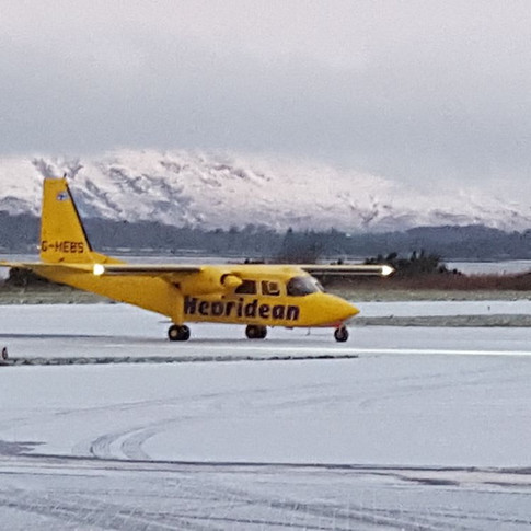 Winters morning Oban Airport