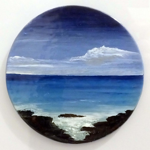 """Fired Enamel Painting - """"Island View"""""""