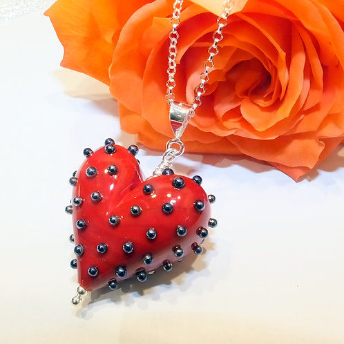 Be Mine! Large Red Heart Pendant
