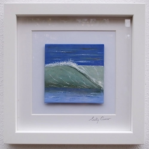 "Fired Enamel Painting - ""Wave I"""