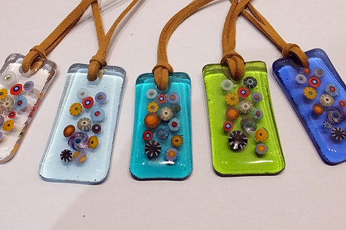 Beachcombing Fused Glass Pendant