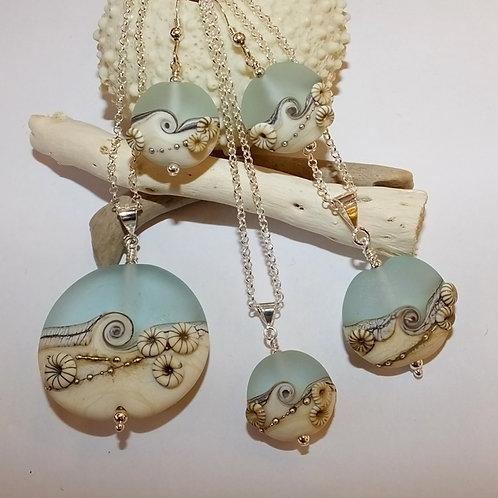 Aqua Beachy Barnacles (etch) Jewellery Range