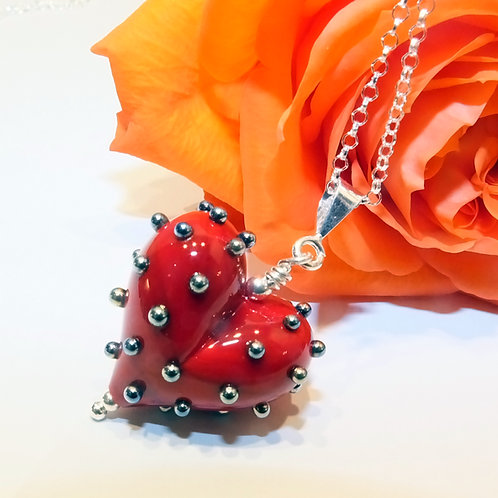 Be Mine! Small Red Heart Pendant