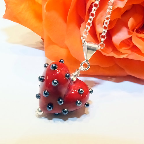 Be Mine! Tiny Red Heart Pendant