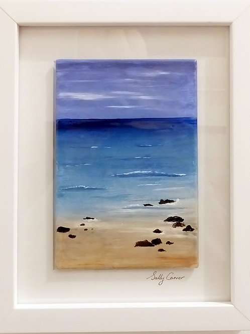 "Fired Enamel Painting - ""Sunny Beach II"""
