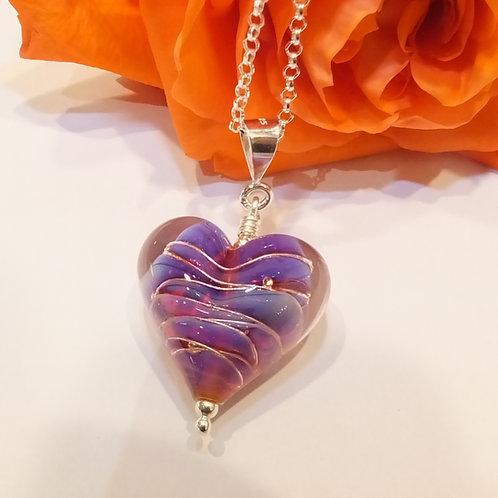 Be Mine! Sunset Heart Pendant