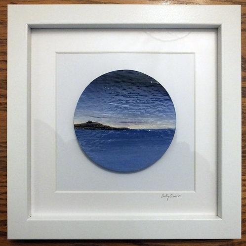 "Fired Enamel Painting - ""Island Night"""