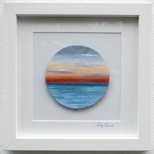 "Fired Enamel Painting - ""Sunset I"""