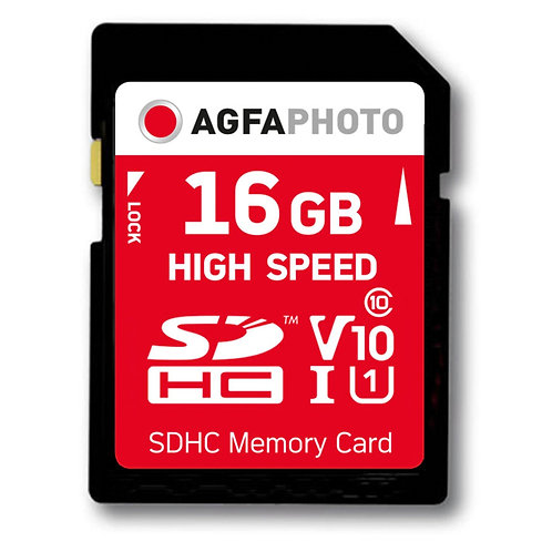 AgfaPhoto SDHC Karte 16GB High Speed Class 10 UHS I U1 V10