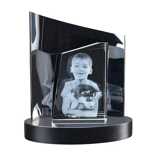 3D Glasfoto TOWER M + Clarisso® Sockel - SET