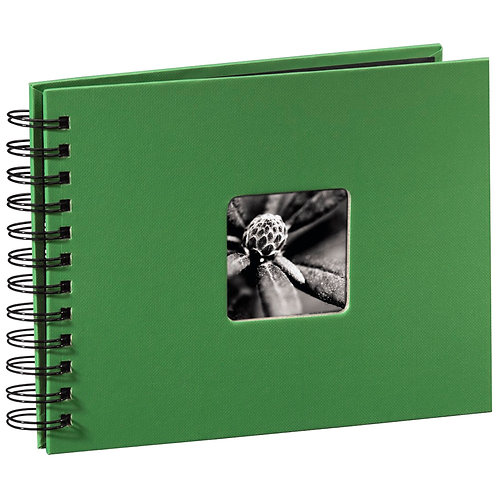 """Hama """"Fine Art"""" Spiral apfelgrün 24x17 50 schwarze Seiten 94880"""