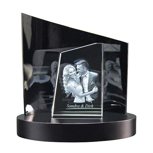 3D Glasfoto TOWER S + Clarisso® Sockel - SET