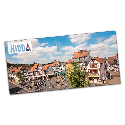 Nidda Postkarte Marktplatz