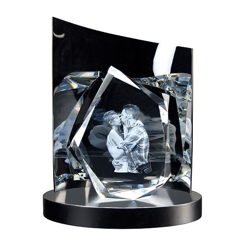 3D Glasfoto DIAMOND L + Clarisso® Sockel - SET