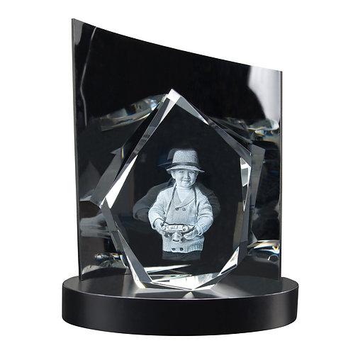 3D Glasfoto DIAMOND M + Clarisso® Sockel - SET