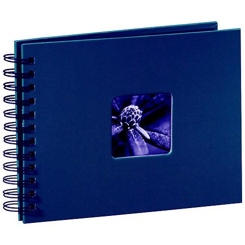 """Hama """"Fine Art"""" Spiral blau 24x17 50 schwarze Seiten 90152"""