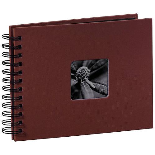"Hama ""Fine Art"" Spiral bordeaux 24x17 50 schwarze Seiten 90154"
