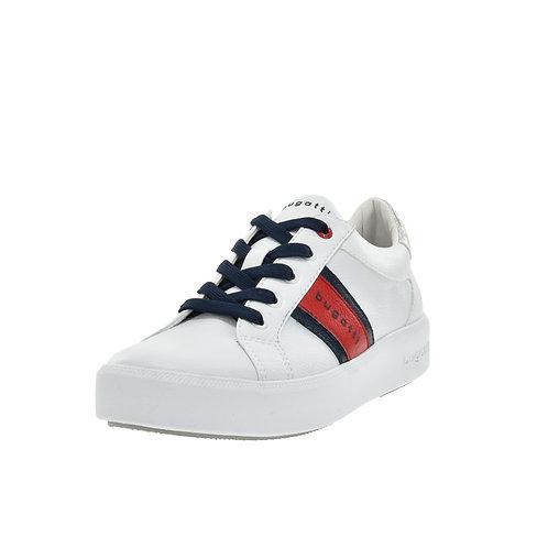 Bugatti Damen Sneaker weiss/rot