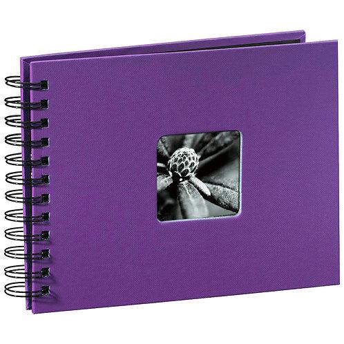 """Hama """"Fine Art"""" Spiral lila 24x17 50 schwarze Seiten 94881"""