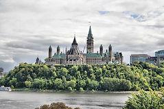 Photo of the back of Pariliament Hill in Ottawa