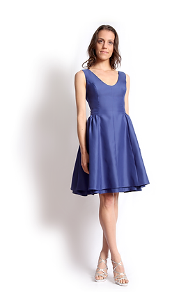 dk1404P sleeveless scoop reversible cocktail dress