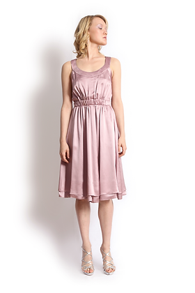 dk1307G twined back reversible cocktail dress