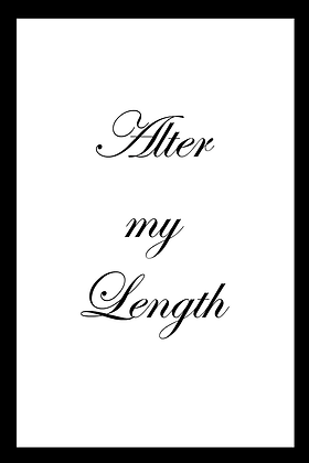 Upgrade: Alter the Length of My Dress