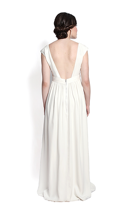 dk1403B cap sleeve reversible bridal gown
