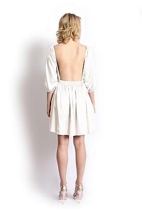 dk1205B open back reversible bridal dress